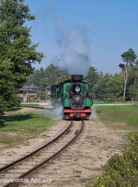 600 mm narrow gauge steam train in Ventspils