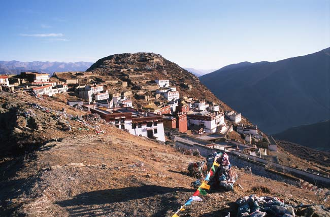 Ganden monastery; photo: Bernd Seiler, November 2000